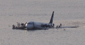 Famous Forced Landing: The ditching of US Airways Flight 1549 into the Hudson River. Image Source: wikipedia.org