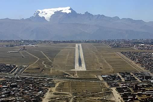 El Alto International Airport, La Paz Bolivia. Image Courtesy of BolivaTravelSite.com