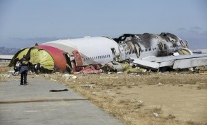 Asiana crash wreckage. Image courtesy of the NTSB