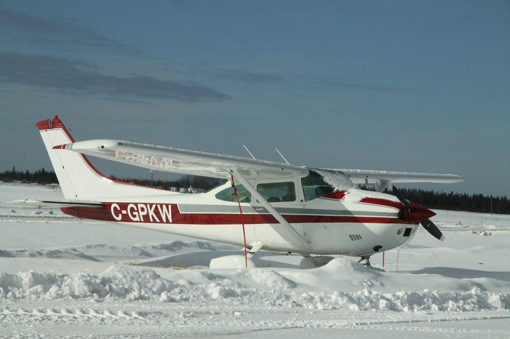 Cessna 182 in northern alberta