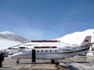 Cessna Citation XLS in Tibet, the world's highest commercial airport. Image courtesy of flightglobal.com