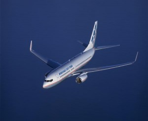 Winglets on a Boeing aircraft. Image from Boeing.com