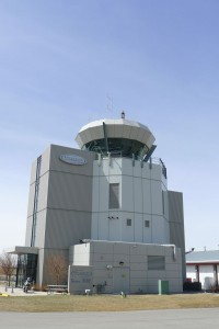 Control tower at Springbank Airport.