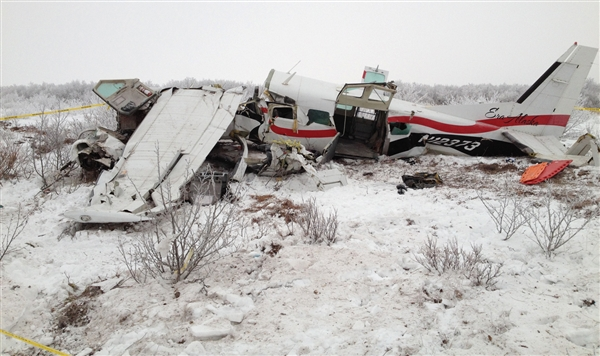 Cessna 208 crash. Image provided by the State of Alaska and from NBC news.com