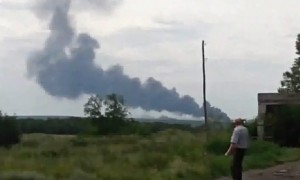 Malaysia Airlines plane in Ukraine