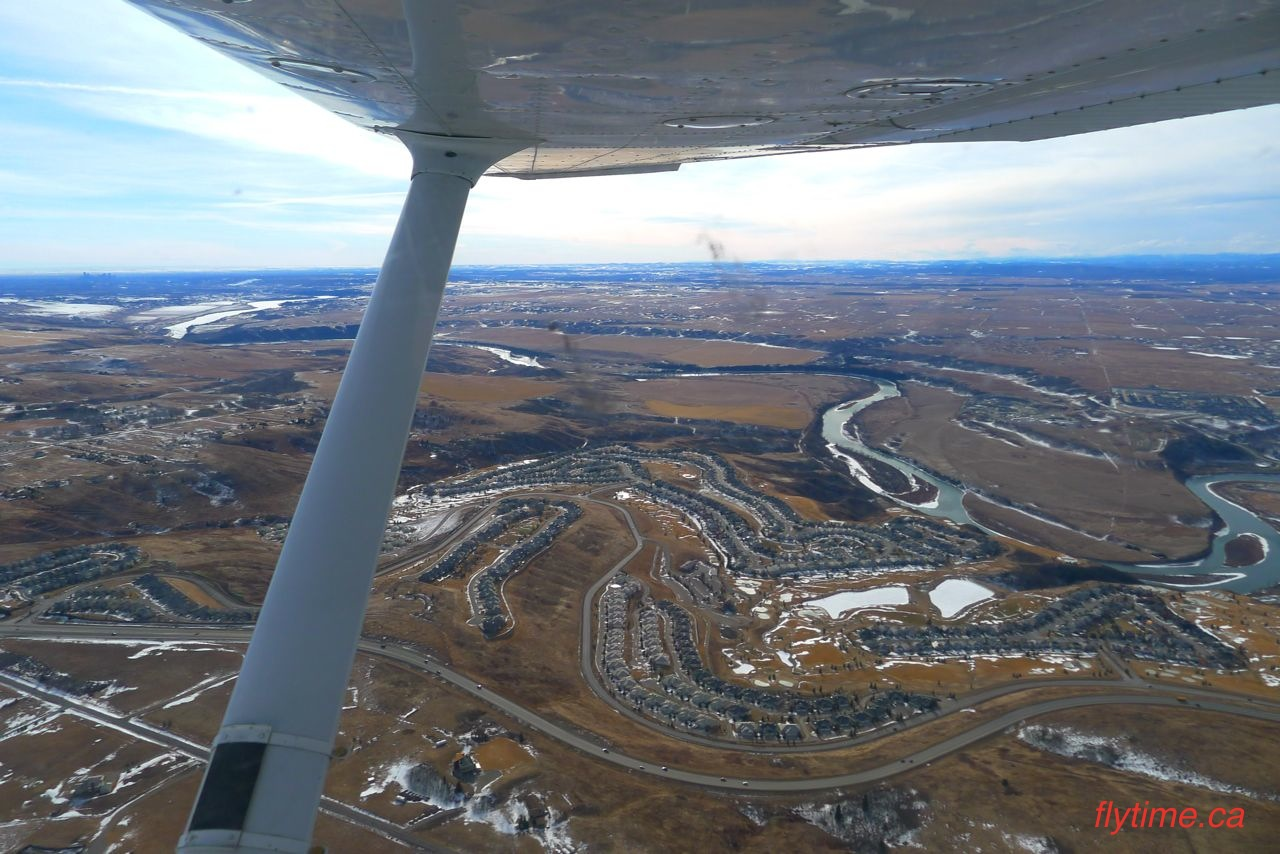 Cochrane from the air