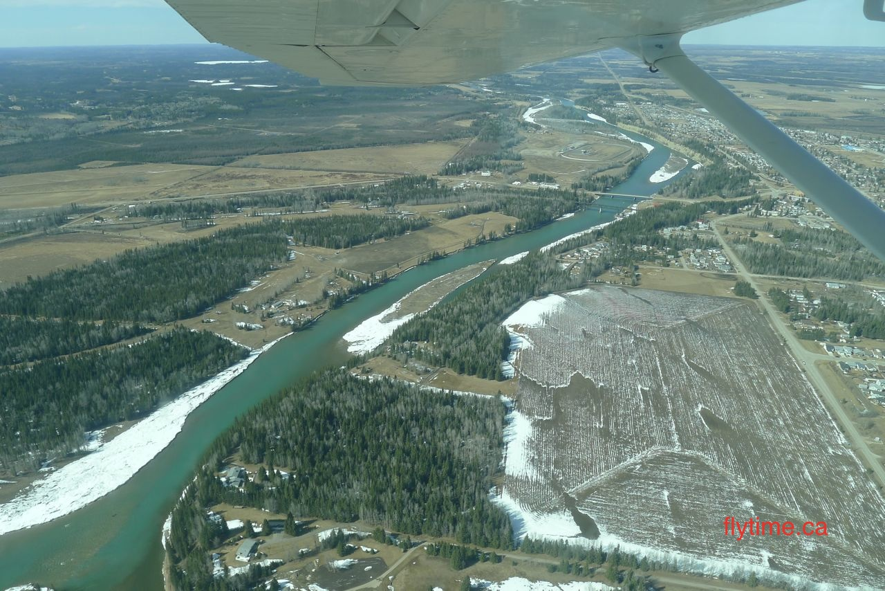 Over the North Saskatchewan River